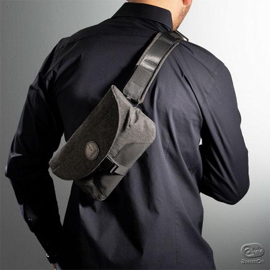 いつも身につけていられる、小さな身のまわり物用バッグです。安全に快適に、両手をあけて街を歩きまわりたい方も、旅行のお供にも。