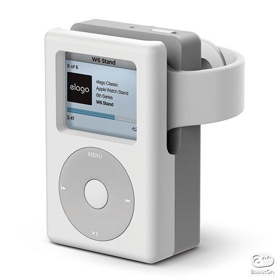あなたの机に、iPodが戻ってきます。シリコンのAppleWatch専用チャージングステーションの形になって。スマートに充電・置き時計モードに、